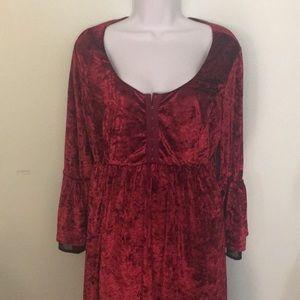 Velvet bell 🔔 sleeve dress